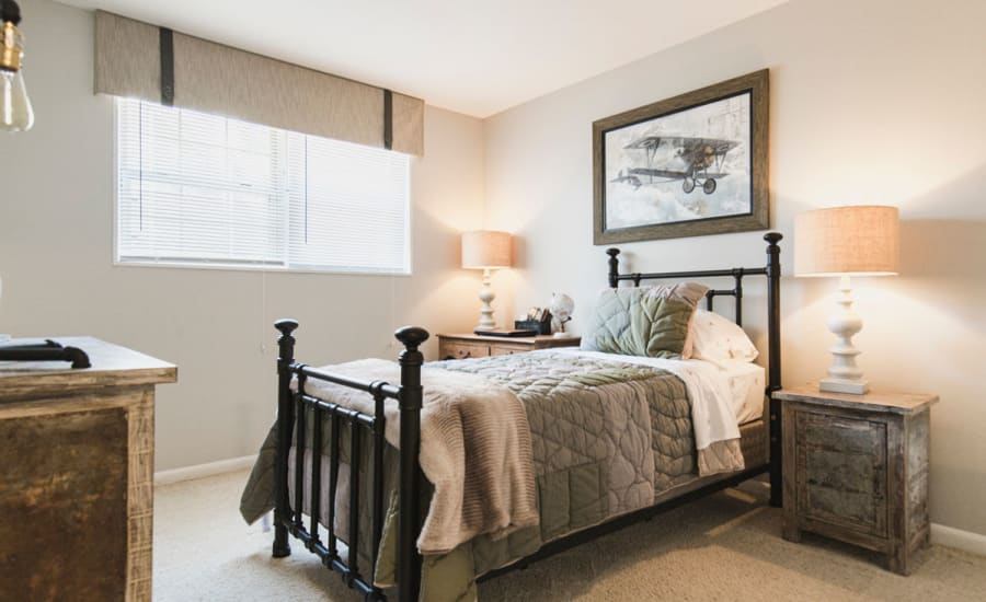 Bedroom at Westgate Apartments & Townhomes in Manassas, Virginia