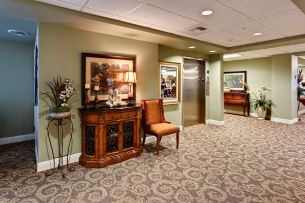 Common area at Sea View Senior Living Community in Brookings, Oregon