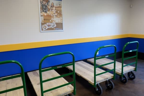 Moving carts at Compass Self Storage in Tavares, Florida