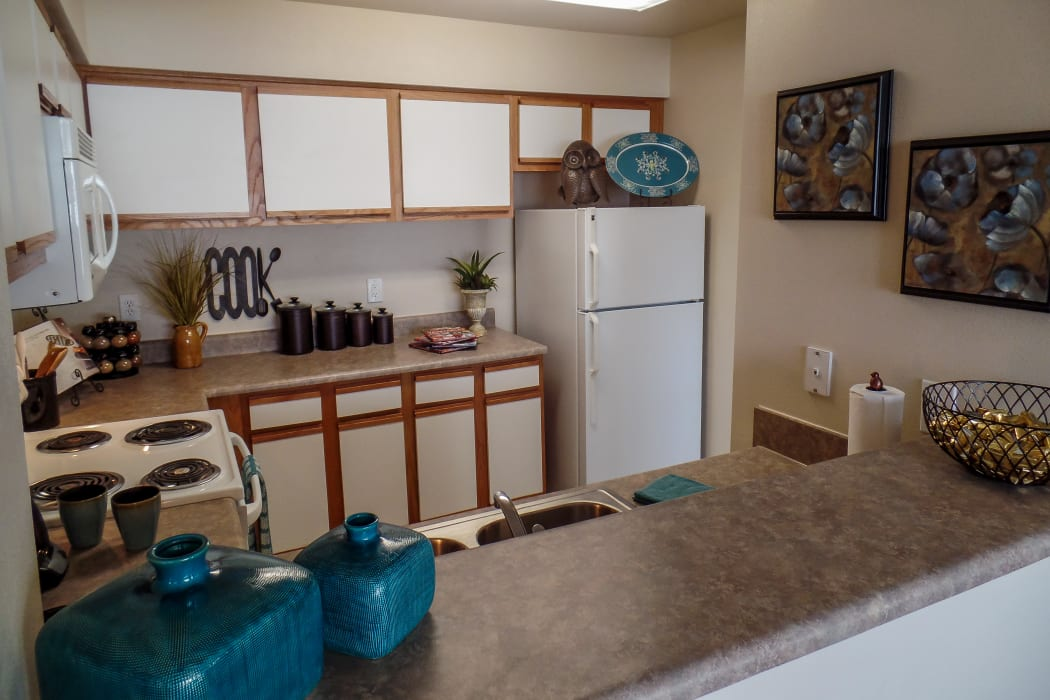 Spacious kitchen at Winchester Apartments in Amarillo, Texas