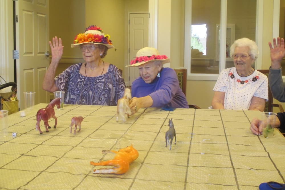 Happy residents enjoying together at Eastern Star Masonic Retirement Campus in Denver, CO
