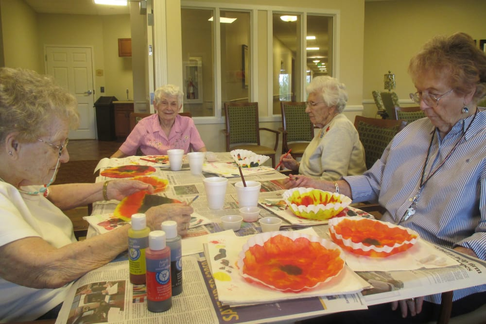 Residents enjoying a delicious meal at Eastern Star Masonic Retirement Campus