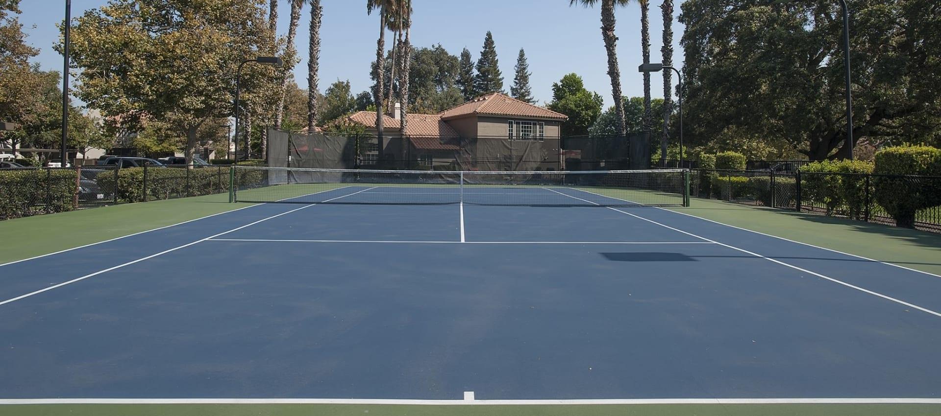 Tennis courts at Shore Park at Riverlake in Sacramento, California