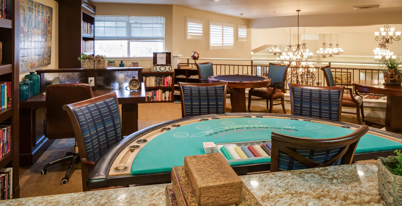 Our senior living community in Modesto, California offer a common area