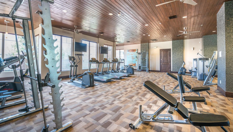 Fitness area at Olympus Encantada in Albuquerque, New Mexico