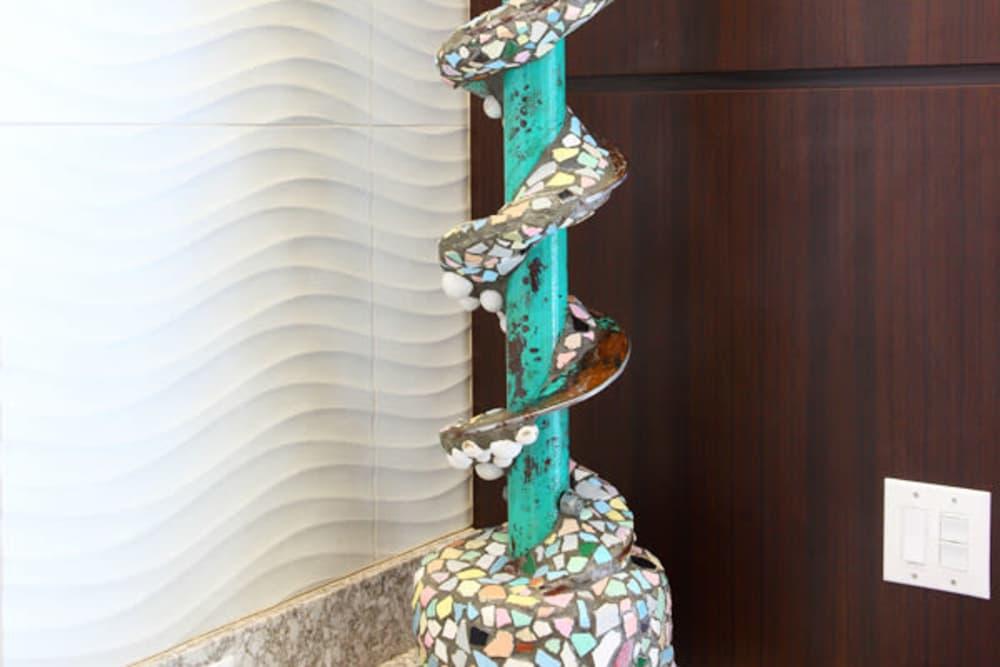 Mosaic column at Jefferson Westshore in Tampa, Florida