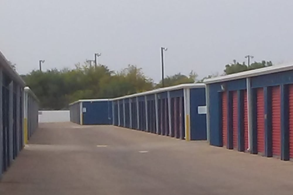 Outdoor storage units at Store It All Self Storage - Zapata in Laredo, Texas