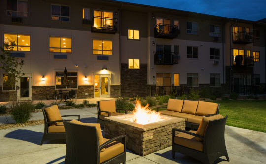 Affinity at Loveland fire-pit seating