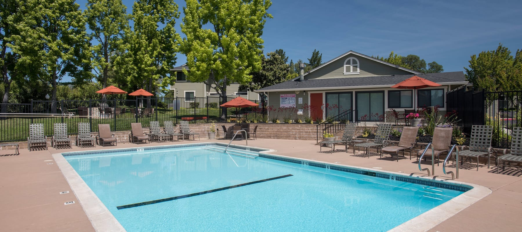 Expansive Pool Deck at Ridgecrest Apartment Homes in Martinez, CA