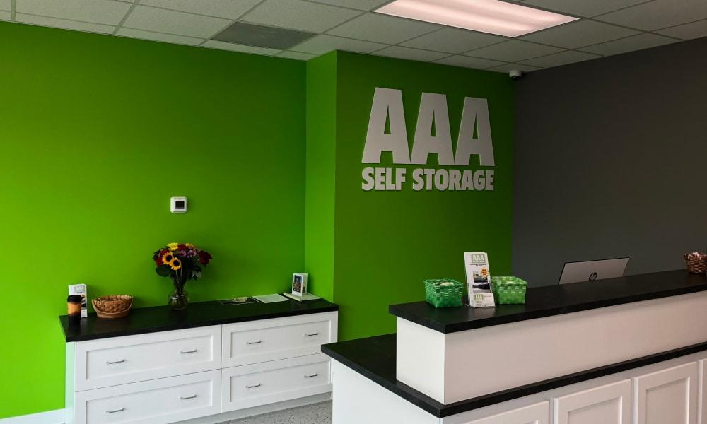 Office at AAA Self Storage in Greensboro, NC