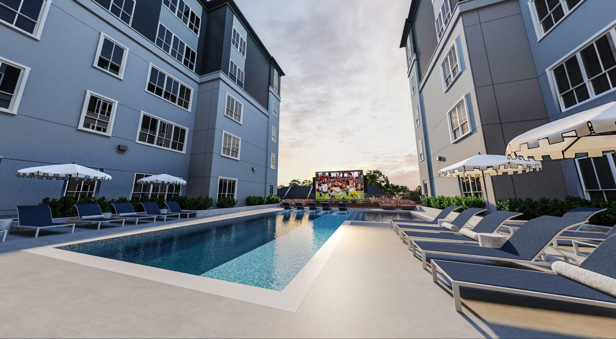 Off-Campus Student Apartments at HERE Tuscaloosa in Tuscaloosa, Alabama