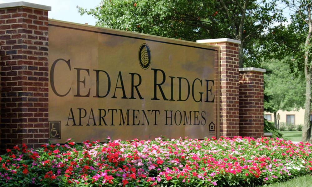 entrance sign at Cedar Ridge in Richton Park,IL