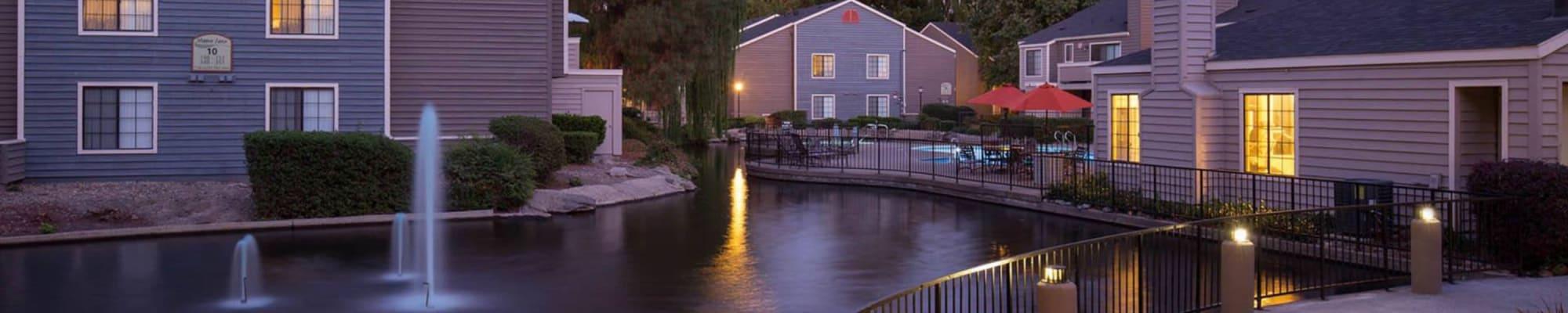 Community map at Hidden Lake Condominium Rentals in Sacramento, California