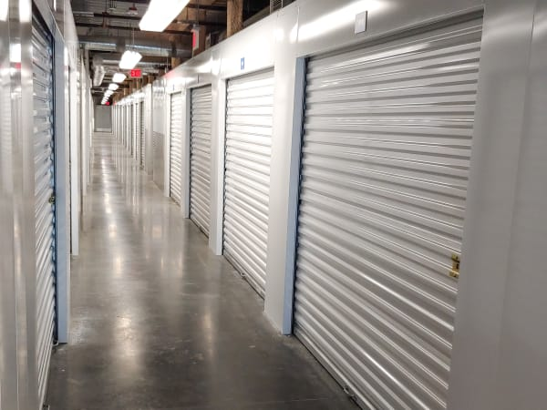 Hallway of units at StorQuest Self Storage in North Miami, Florida