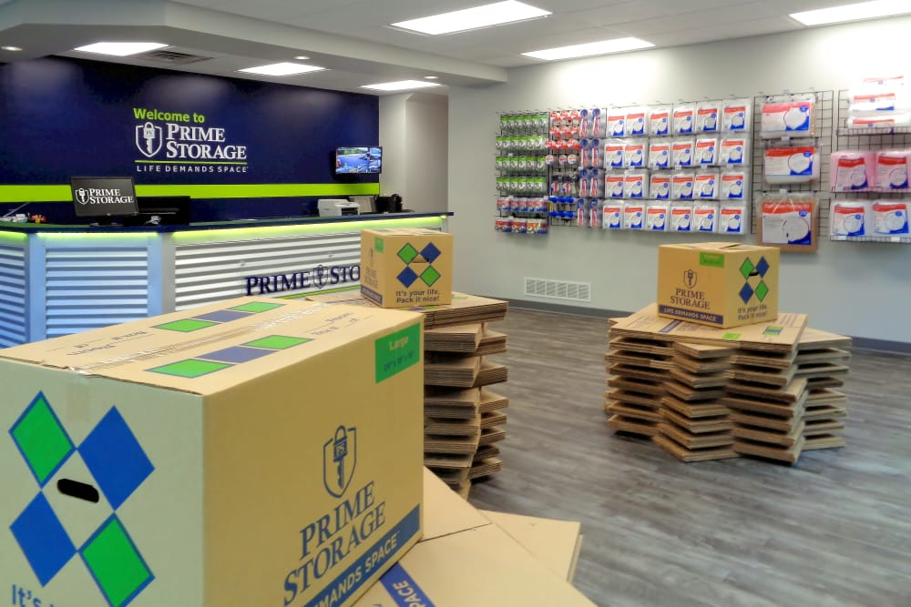 Packing supplies available for purchase at Prime Storage in Dallas, Georgia