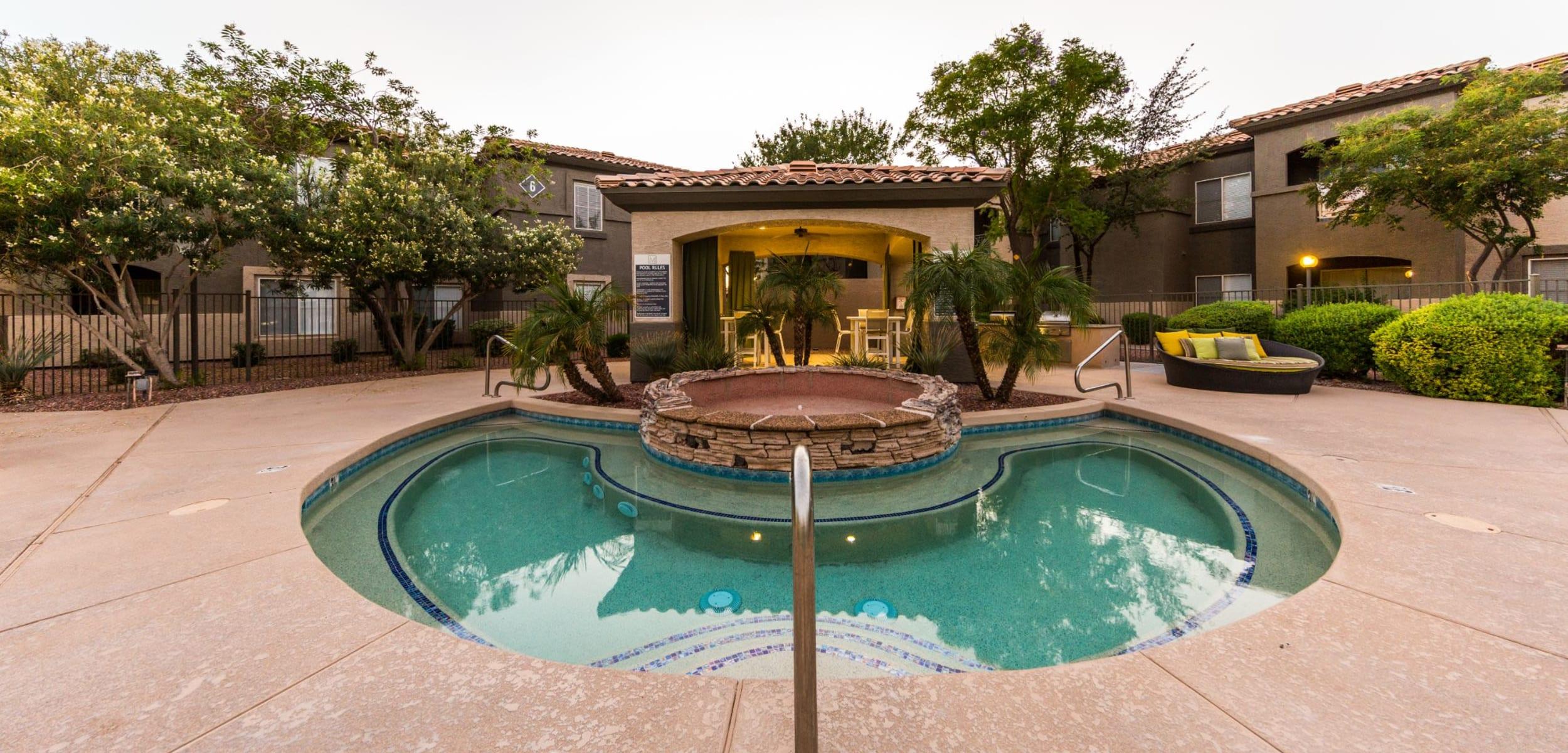 Outdoor spa at Marquis at Arrowhead in Peoria Arizona,
