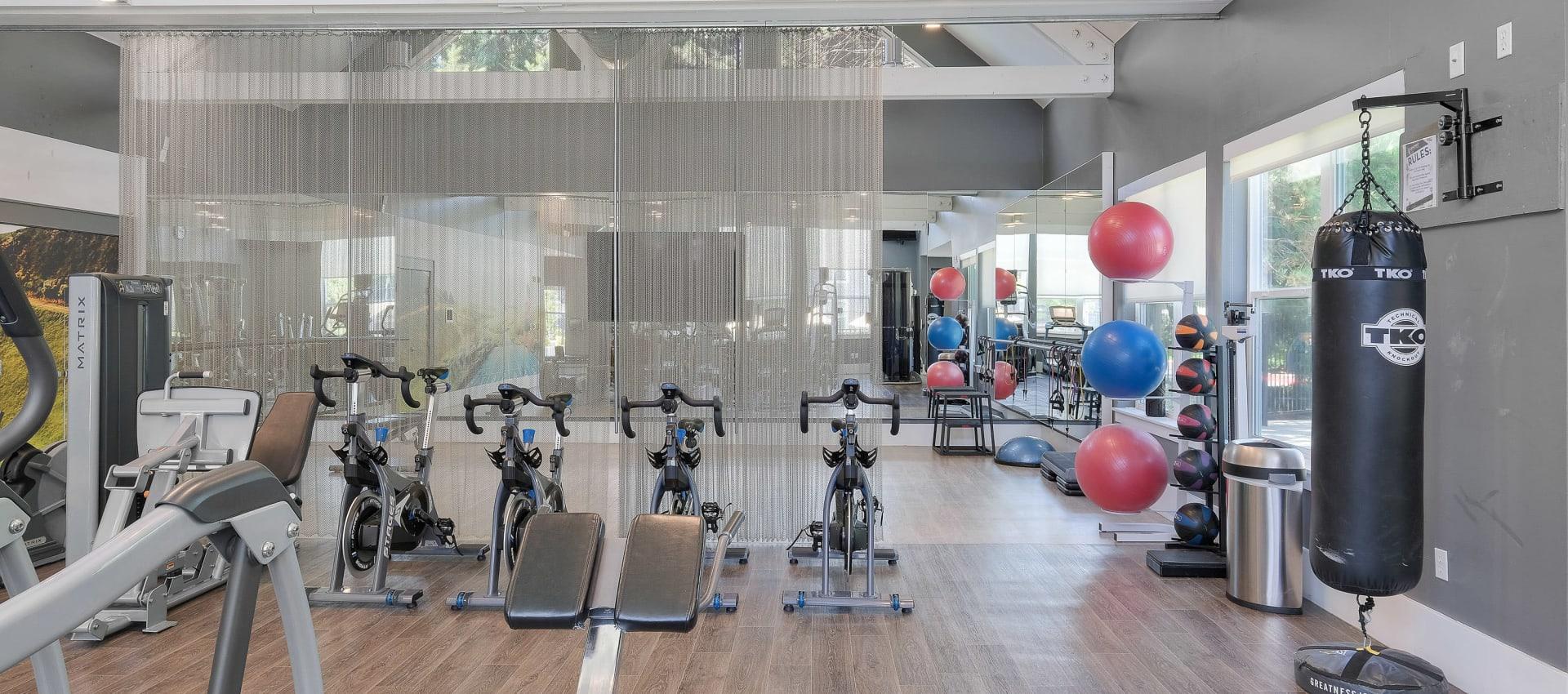 Fitness center at Centro Apartment Homes in Hillsboro, Oregon