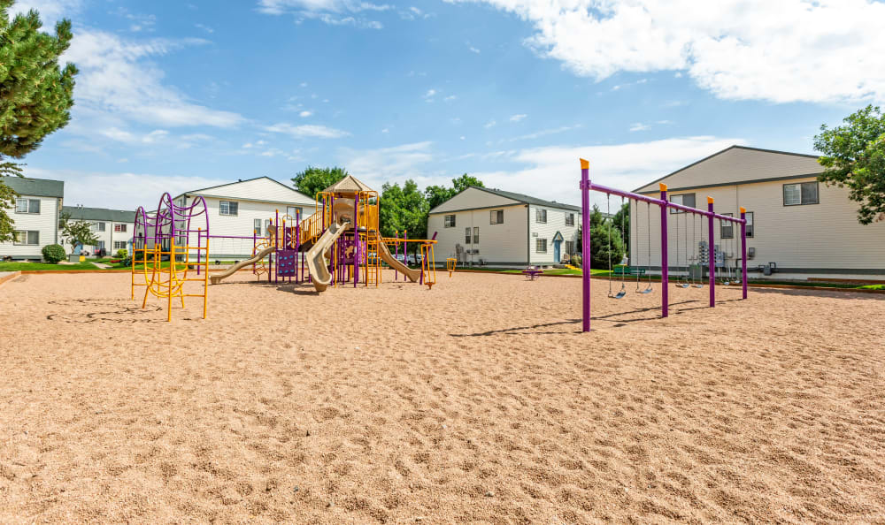 Stratus Townhomes in Westminster, Colorado offers playground