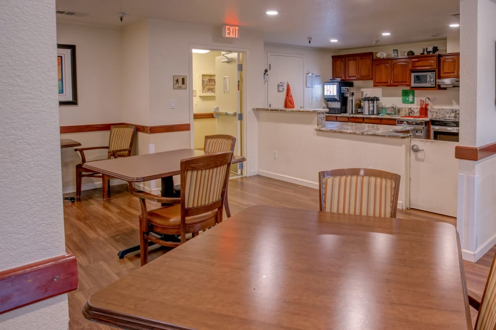 Memory care kitchen at Golden Pond Retirement Community