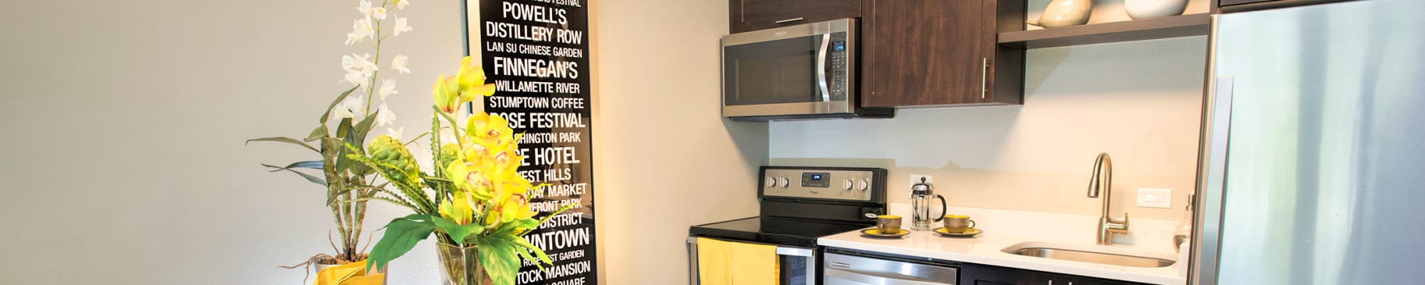 Resident perks at Harrison Tower in Portland, Oregon