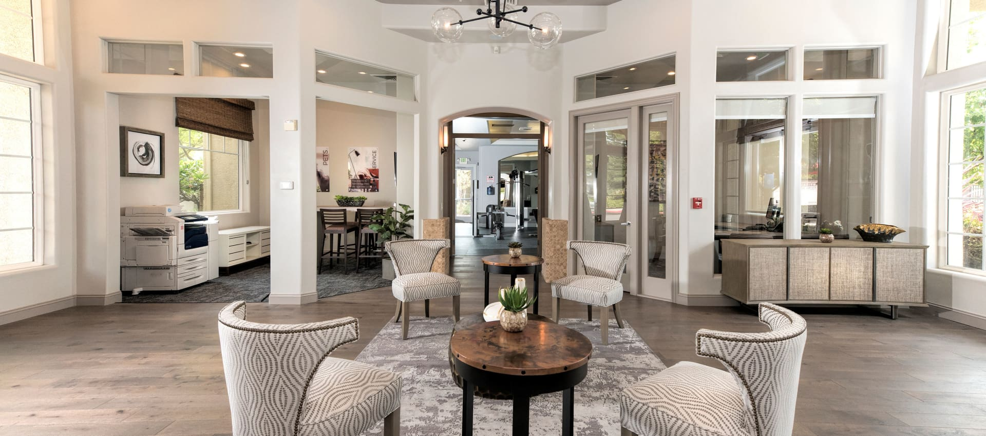 Beautiful clubhouse at The Artisan Apartment Homes in Sacramento, California