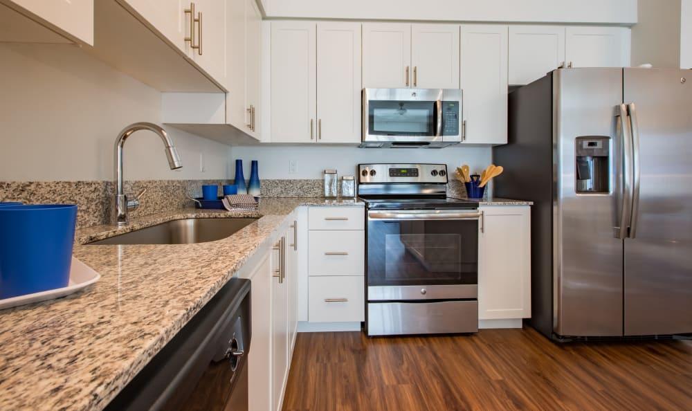 Nice clean kitchen at Luma at Miramar in Miramar, Florida