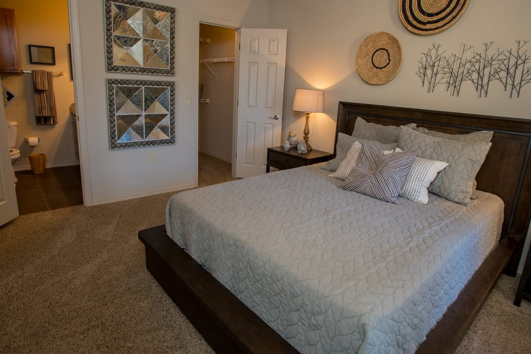 Spacious bedroom at Villas at Canyon Ranch in Yukon, Oklahoma