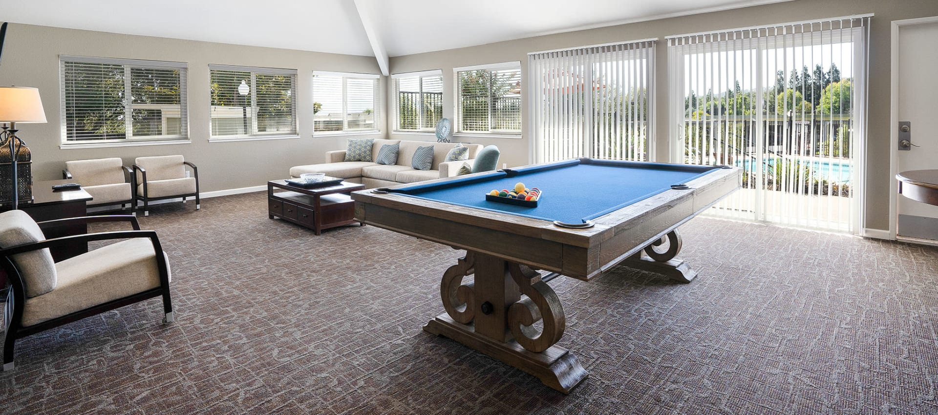 Pool table at Ridgecrest Apartment Homes in Martinez, California