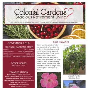 November Colonial Gardens Gracious Retirement Living newsletter