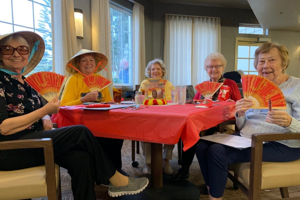 Chinese New Year Party at Merrill Gardens at Oceanside in Oceanside, California.