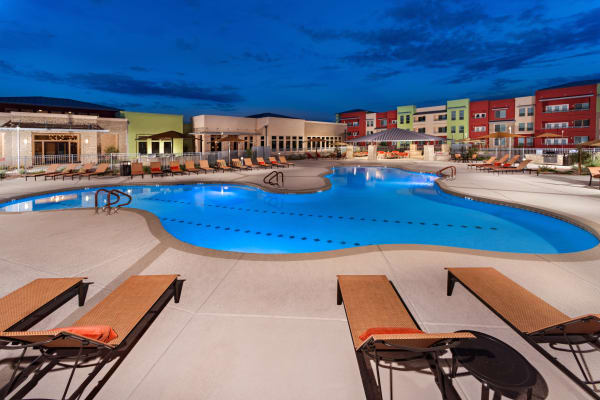 Community pool at Southern Avenue Villas in Mesa, Arizona