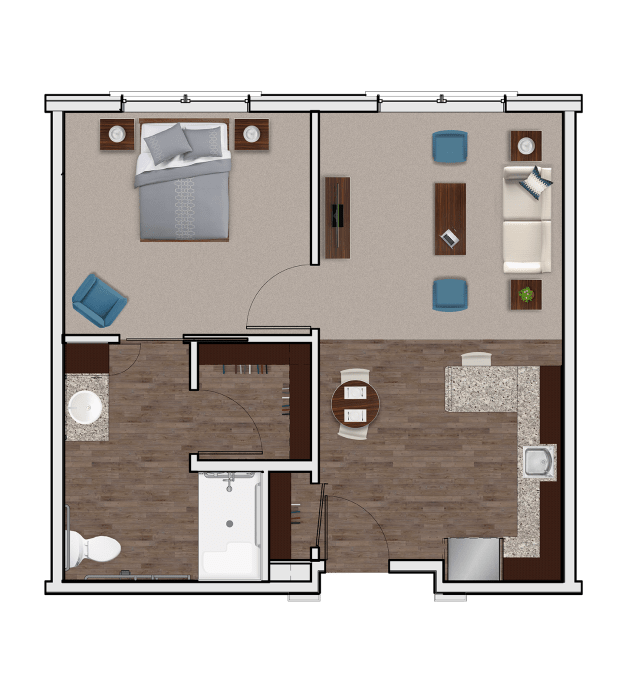Assisted Living One Bedroom at Stonecrest of Meridian Hills