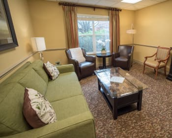 Community lounge at Kenmore Senior Living in Kenmore, Washington