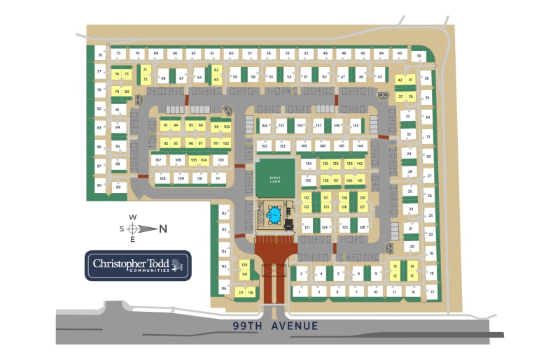 Site map at Christopher Todd Communities At Country Place