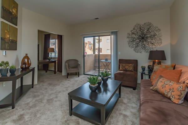 San Miguel del Bosque showcases a modern living room in Albuquerque, New Mexico