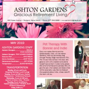 May Ashton Gardens Gracious Retirement Living newsletter