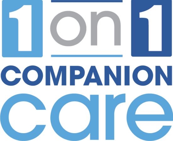 1 on 1 Companion Care Logo