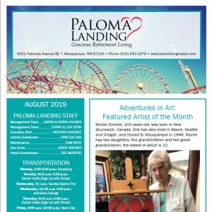 August Paloma Landing Retirement Community newsletter
