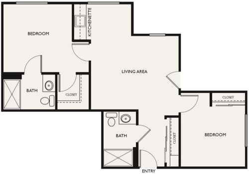 Assisted Living Two Bedroom at The Commons at Dallas Ranch in Antioch, California