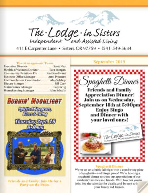 The Lodge in Sisters Newsletter