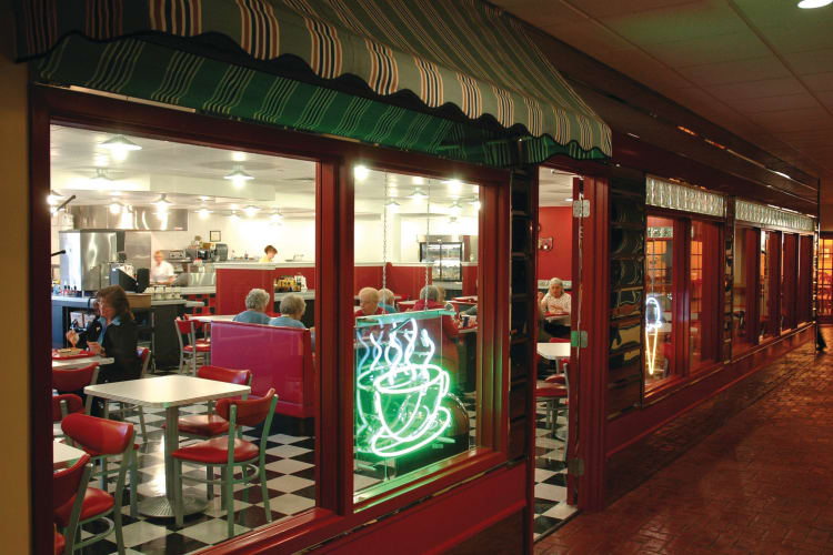 50's Cafe area at Arbour Square of Harleysville in Harleysville, Pennsylvania