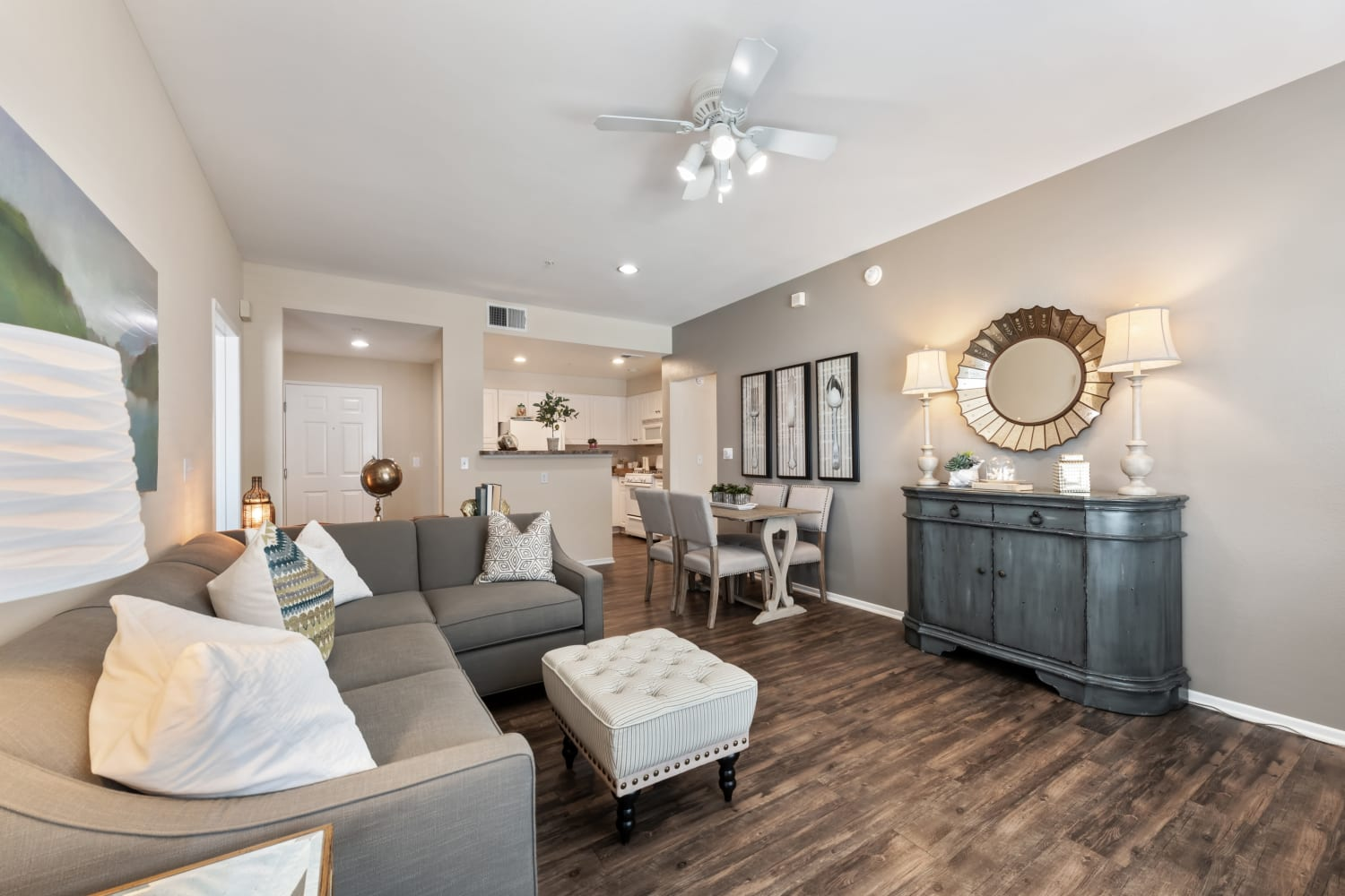 The Village on 5th in Rancho Cucamonga, California offers a living room