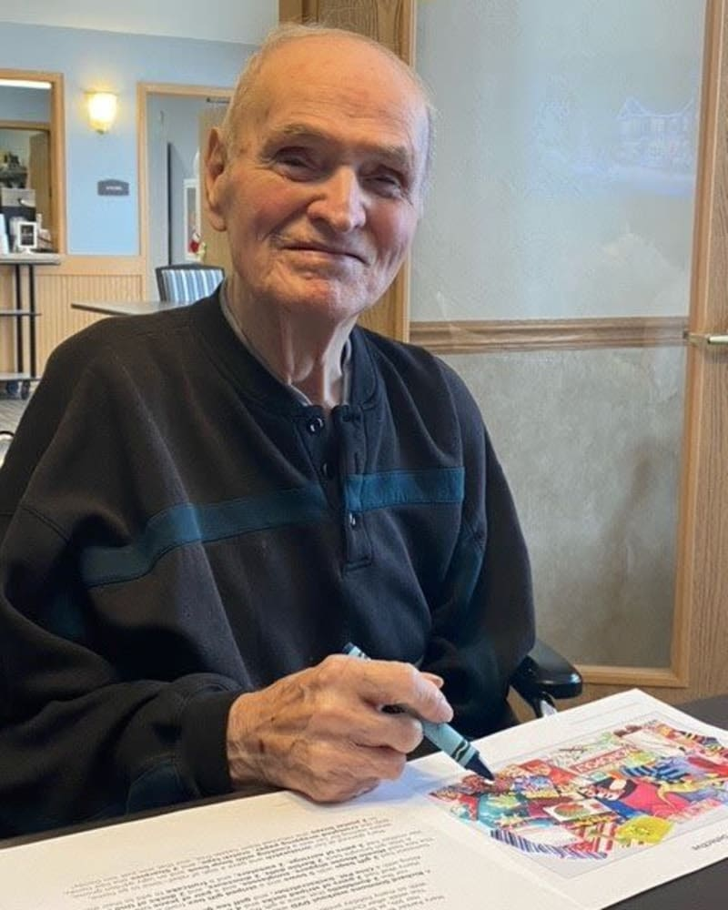 Resident coloring at Apple Creek Place in Appleton, Wisconsin