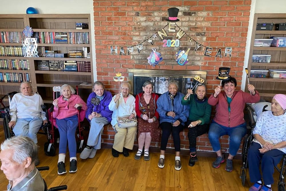 Residents gathered for a photo at Parkrose Gardens of Fairfield in Fairfield, California