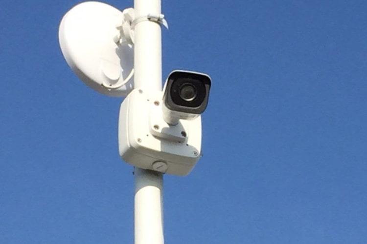 Surveillance camera at Outback Self Storage in Orange, California
