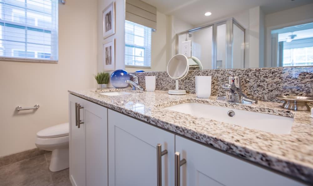 Beautiful bathroom at Luma at Miramar in Miramar, Florida