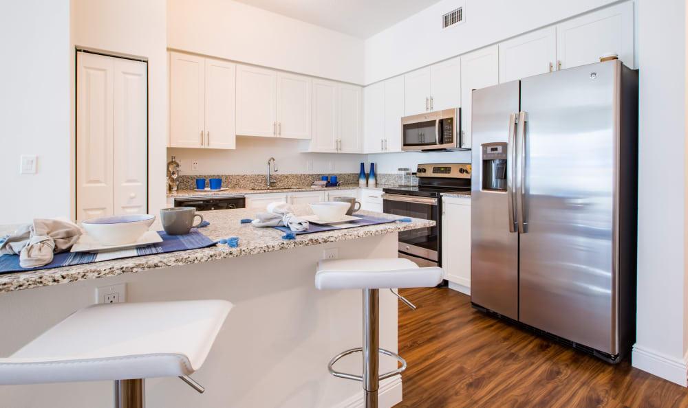 Modern kitchen at Luma at Miramar in Miramar, Florida