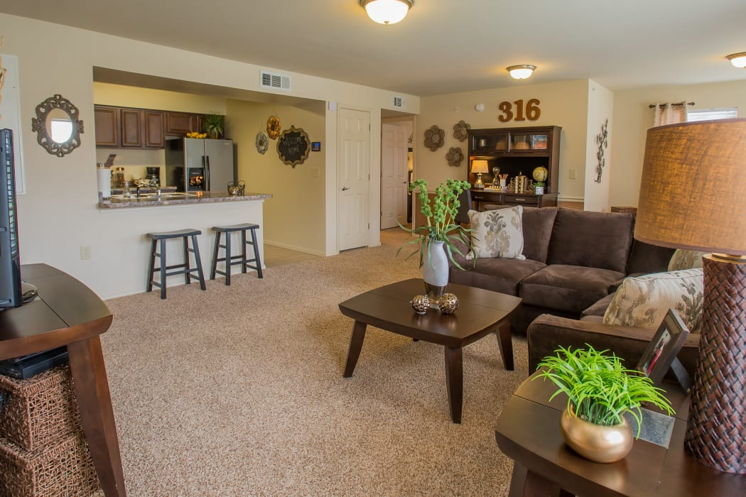Spacious open floor plan at Park at Mission Hills in Broken Arrow, Oklahoma