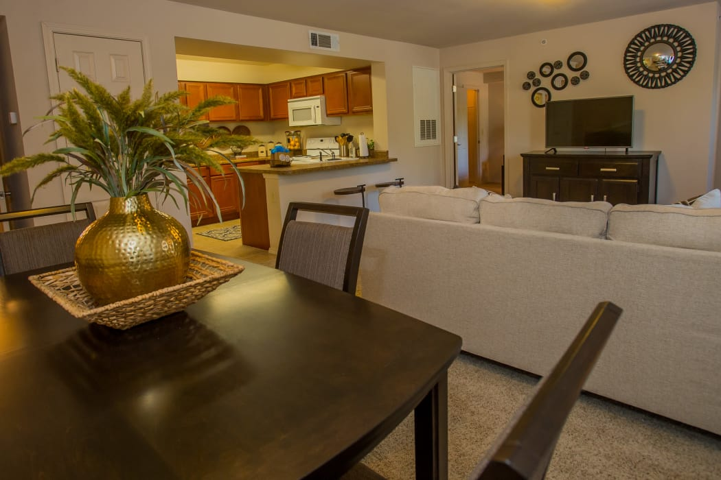 Dining table at Nickel Creek Apartments in Tulsa, Oklahoma