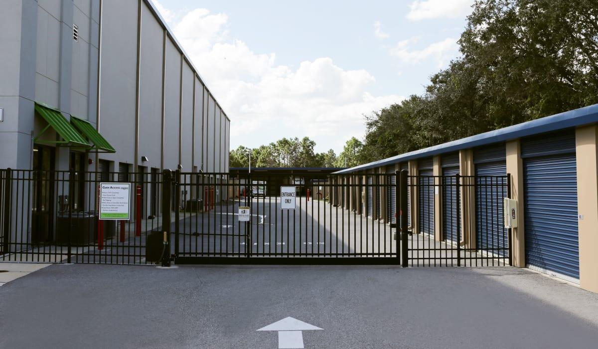 Entrance at Midgard Self Storage in Bradenton, Florida